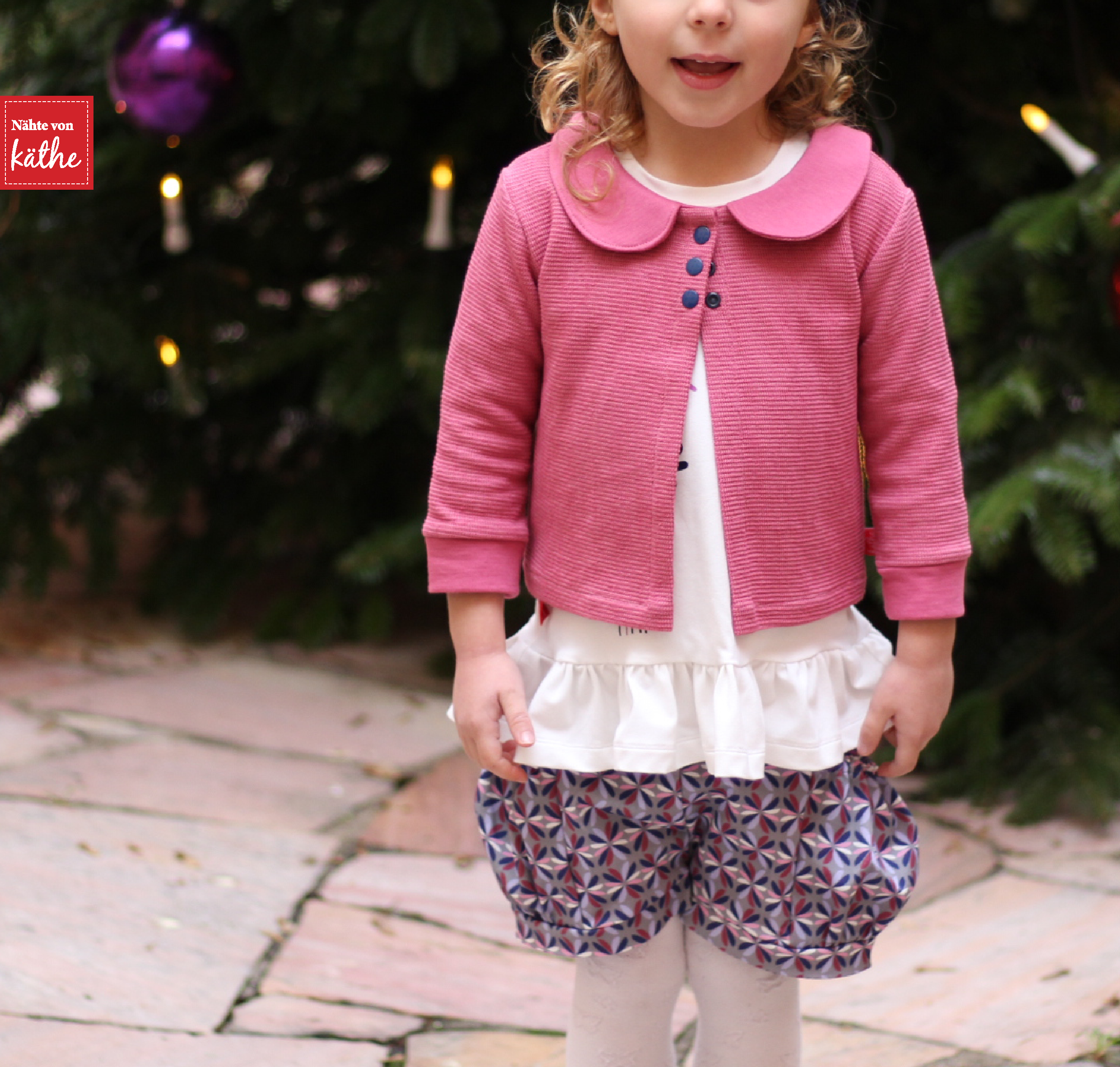Aster Cardigan von LBG Studio, Bubble Pocket Shorts von E&E Patterns, Mieze von Rosarosa