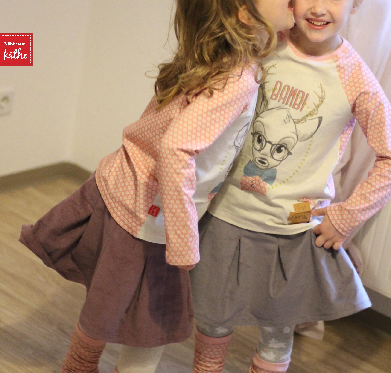 Shirt Raglan Kids von Leni Pepunkt und Rock Rapunzel von Firlefanz