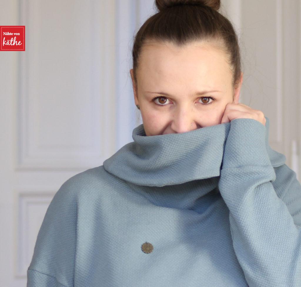 Brunswick Sweater mit Kragen von Hey June, erhältlich auf deutsch bei Nähconnection